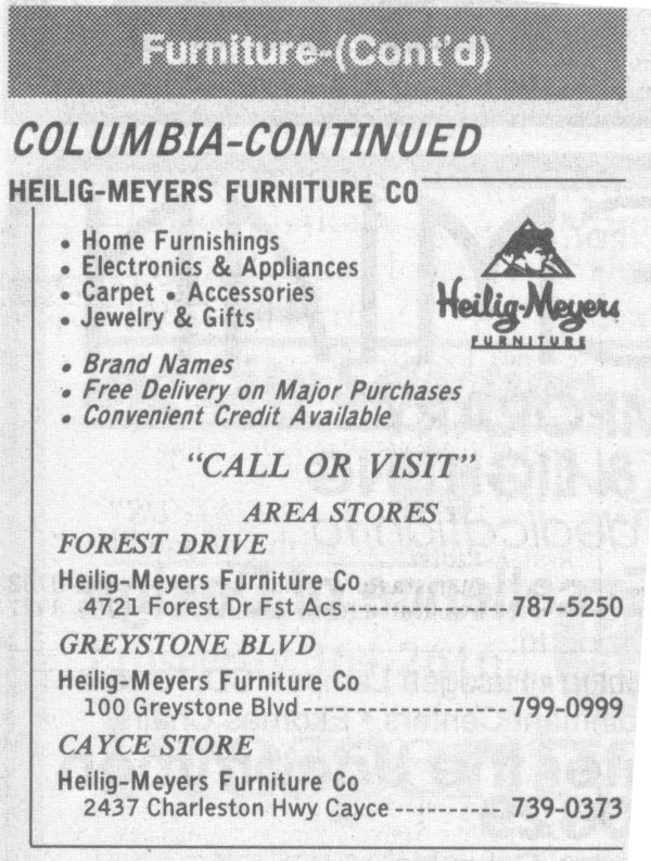 Heilig Meyers Furniture Store Locations